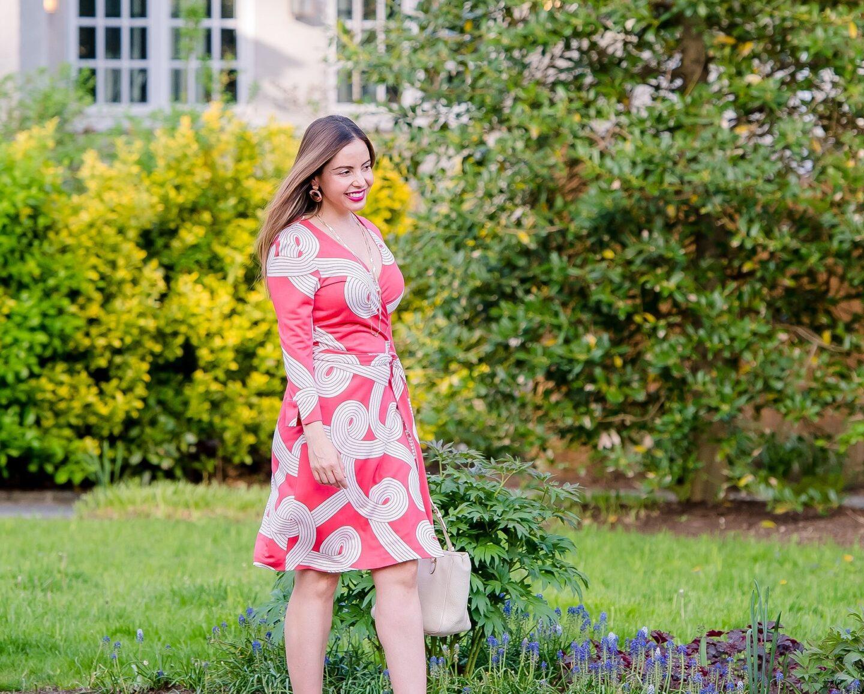 Carmen Lopez wearing Diane Von Furstenberg Iconic Wrap Dress